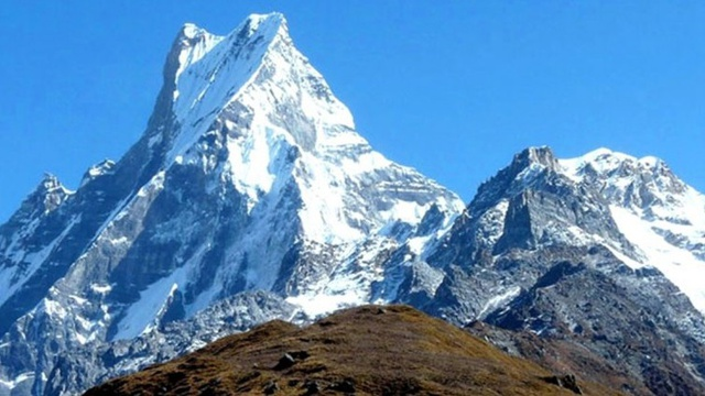 View of Machhapuchhre Mountain, Nepal