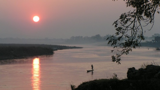 Sunset View at Chitwan National Park, Nepal